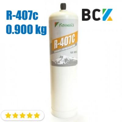 Хладагент фреон R407c 0.900 кг хладон для холодильного оборудования многоразовый
