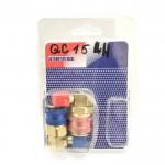 Комплект муфт для заправки автокондиционера 400QC15 L/H (hq)