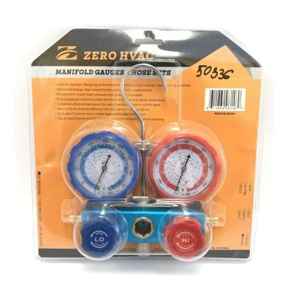 Двухвентильный манометрический коллектор Zero Hvac ZR-M50336A (R410A, R22, R134A, R404A) (hq)