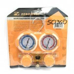 Двухвентильный манометрический коллектор Zero Hvac ZR-M50360AA (R410A, R22, R134A, R404A) (hq)