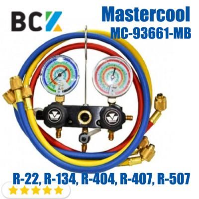 Двухвентельный манометрический коллектор Mastercool MC-93661-MB (R-22, R-134, R-404, R-407, R-507)