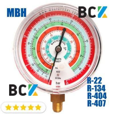 Манометр Mastercool MBH в.д. фреон R-22 R-134 R-404 R-407 США для фреоновых холодильных систем высокая сторона
