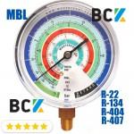 Манометр Mastercool MBL н. Д. фреон R22 R134 R404 R407 США для фреонових холодильних систем