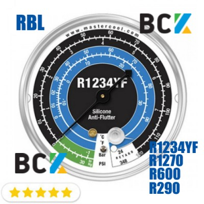 Манометр Mastercool RBL н.д. фреон R1234YF R1270 R290 R600a США для фреоновых холодильных систем манометрия