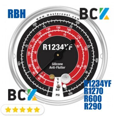 Манометр Mastercool RBH в.д. фреон R1234YF R1270 R290 R600a США для фреоновых холодильных систем манометрия