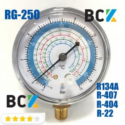 Манометр RG-250 н.д. под фреон R22 R134 R404 R-407 низкая сторона для фреоновых холодильных систем Китай