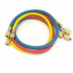 Набор заправочных шлангов Anti Blowback CHAB36RBY ZERO HVAC 3x0.9m (R22, R134a, R12) (hq)