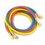 Набор заправочных шлангов Anti Blowback CHAB60RBY ZERO HVAC 3x1.5m (R22, R134a, R12) (hq)