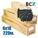 Трубка K-FLEX ST 6x18mm (от упаковки - 220м) ПОД ЗАКАЗ! термоизоляция для медных труб кондиционера - монтаж установка