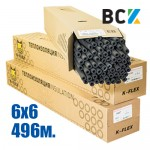 Трубка K-FLEX ST 6x6mm (от упаковки - 496м) ПОД ЗАКАЗ! термоизоляция для медных труб кондиционера - монтаж установка