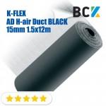 Рулон K-FLEX AD H-air Duct BLACK 15mm 1.5x12m изоляция каучуковая листовая самоклеющаяся продажа рулоном