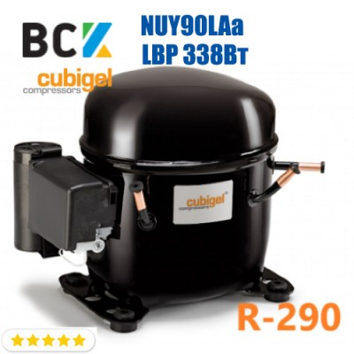 Компрессор герметичный низкотемпературный LBP R290 CUBIGEL NUY90LAa 338Вт ACC для холодильных агрегатов 220В