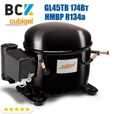 Компрессор герметичный средне/высокотемпературный HMBP R134a CUBIGEL GL45TB 174Вт ACC для холодильных агрегатов 220В