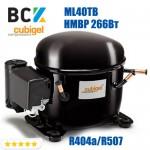 Компрессор герметичный средне/высокотемпературный HMBP R404a/R507 CUBIGEL ML40TB 266Вт ACC для холодильных агрегатов 220В