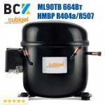 Компрессор герметичный средне/высокотемпературный HMBP R404a/R507 CUBIGEL ML90TB 664Вт ACC для холодильных агрегатов 220В