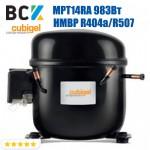 Компрессор герметичный средне/высокотемпературный HMBP R404a/R507 CUBIGEL MPT14RA 983Вт ACC для холодильных агрегатов 220В