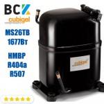Компрессор герметичный средне/высокотемпературный HMBP R404a/R507 CUBIGEL MS26TB 1677Вт ACC для холодильных агрегатов 220В