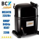 Компрессор герметичный средне/высокотемпературный HMBP R404a/R507 CUBIGEL MS34TB 2357Вт ACC для холодильных агрегатов 220В