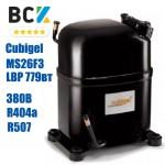 Компресор герметичний низькотемпературний LBP R404a/R507 Cubigel MS26F3 779вт 380В для холодильних агрегатів