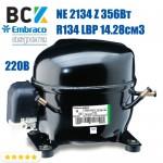 Компресор герметичний низькотемпературний Embraco Aspera NE 2134 Z 356Вт R134a LBP 14.28см3 CSIR для холодильних агрегатів 220В