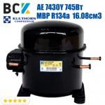 Компрессор герметичный среднетемпературный МBP R134a Kulthorn Kirby AE 7430Y 745Вт 16.08см3 для холодильных агрегатов 220В аналог embraco NEK6214Z