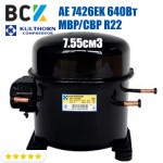 Компрессор герметичный среднетемпературный MBP/CBP R22 Kulthorn Kirby AE 7426EK 640Вт 7.55см3 для холодильных агрегатов 220В аналог embraco NE6187E