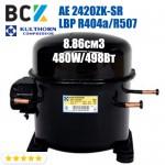 Компрессор герметичный низкотемпературный LBP R404a/R507 Kulthorn Kirby AE 2420ZK-SR 480W/498Вт 6.91см3 для холодильных агрегатов 220В аналог embraco NE2134GK