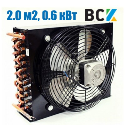 Конденсатор воздушного охлаждения FN-2.0/CD-2.0 0.6 кВт с вентилятором обдува 320x100x230mm