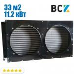 Конденсатор повітряного охолодження FN-33.0/CD-33.0 11.2 кВт 900x200x480mm