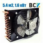 Конденсатор повітряного охолодження FN-5.4/CD-5.4 1.6 кВт з вентилятором обдуву 440x100x330mm