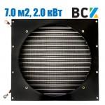 Конденсатор повітряного охолодження FN-7.0/CD-7.0 2.0 кВт 440x135x330mm