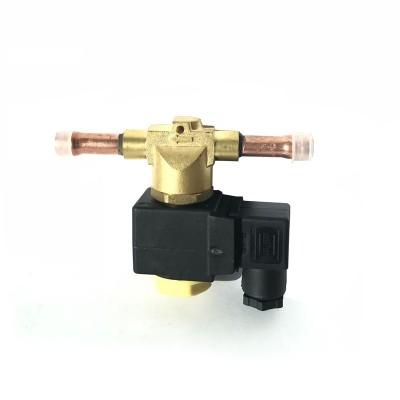 Соленоидный (вентиль) клапан HLF68-4S / HLF64-4S (1/2, пайка, Castel: 1068/4A6, 1068/4A7, 220V, 50HZ)