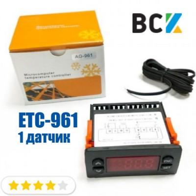 Контроллер ETC 961 1 датчик Elitech блок управления аналог eliwell 961 регляторы температуры для холодильных и морозильных камер