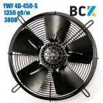 Вентилятор осьовий YWF 4D-450-S на всмоктування 380 1350 об/хв 450мм