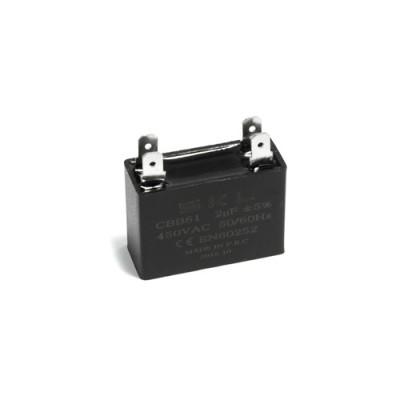 Конденсатор пусковой прямоугольный 2µF 450VAC CBB61 37x16x28mm SKL CAP653UN
