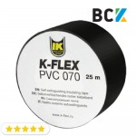 Стрічка ізоляційна K-FLEX PVC 50х25 АТ 070 black изолента чорна 050-025 для ізоляції мідних труб кондиціонера і холодильного обладнання