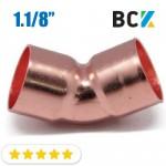 Колено 45° 1.1/8 угол отвод медный дюймовый под пайку