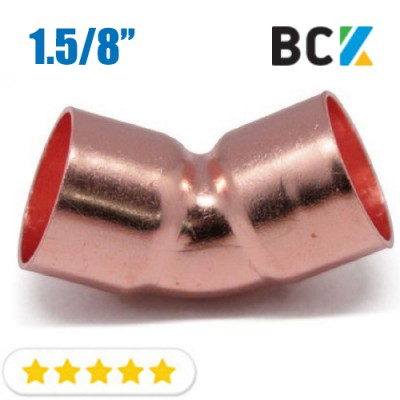 Колено 45° 1.5/8 угол отвод медный дюймовый под пайку