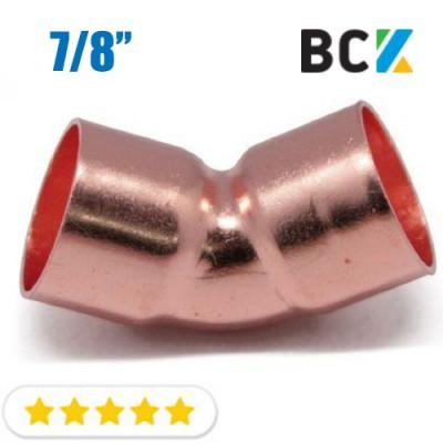 Колено 45° 7/8 угол отвод медный дюймовый под пайку