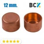 Заглушка 12 мм медная метрическая для фитингов отводов под пайку
