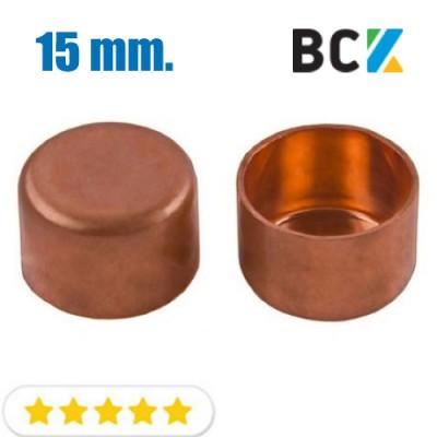 Заглушка 15 мм медная метрическая для фитингов отводов под пайку