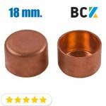 Заглушка 18 мм медная метрическая для фитингов отводов под пайку