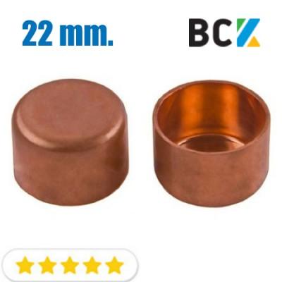 Заглушка 22 мм медная метрическая для фитингов отводов под пайку