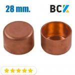 Заглушка 28 мм медная метрическая для фитингов отводов под пайку