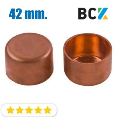 Заглушка 42 мм медная метрическая для фитингов отводов под пайку