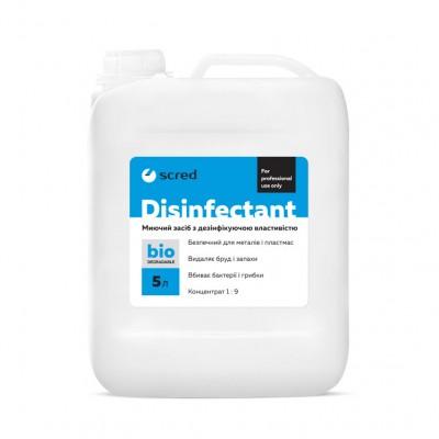 Средство для чистки DISINFECTANT SCRED 5л. (концентрат 1:9 =  до 50л. готового продукта)