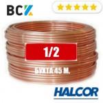 """Труба медная мягкая 1/2"""" (12.7x0.81) Halcor(Греция) от бухты 45 м. для монтажа кондиционеров"""