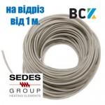 Тен гнучкий дренажний 30w Sedes на відріз від 1 метра гріючий нагрівальний кабель під зимовий комплект кондиціонера антиобледеніння