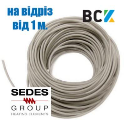 ТЭН гибкий дренажный 30W Sedes на отрез от 1 метра греющий нагревательный кабель под зимний комплект кондиционера антиобледенение