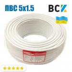 Провод кабель ПВС 5x1.5 ГОСТ цена от бухты 100м для подключения при монтаже и установках кондиционера